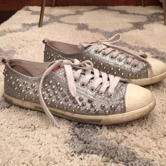 Prada Shoes   Prada Glitterstudded